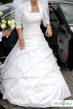 Piękna suknia z trenem firmy Gala - AIZZA