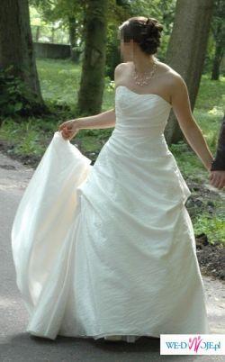 Piękną suknię model Filipa, firmy MARIEES DE PARIS rozm. 38 w kolorze ECRU
