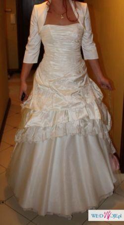 Piękną suknię ślubną w rozmiarze 38-40 sprzedam - okazja !