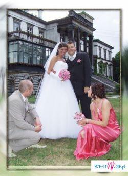 Piękna tiulowa suknia ślubna(bez koła)