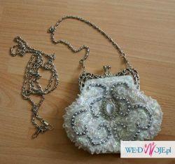 Piękna torebka ślubna- nowa