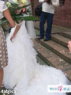 Piękna Wyjątkowa Suknia Ślubna Sabrina rozmiar 34-36 ATRAKCYJNA CENA!!!