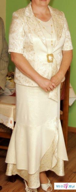 Piękna złoto kremowa suknia