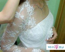 Piękna zwiewna i delikatna suknia ślubna w stylu empire