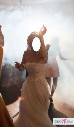 Piękna, zwiewna suknia ślubna