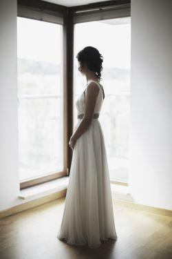 Piękna zwiewna suknia Ślubna, rozm.38, 40