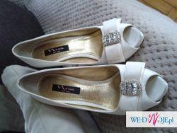 Piękne buty ślubne Nina New York r. 39,5 (satyna w kolorze ivory)