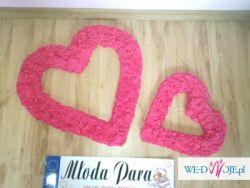 Piekne Różowe Serca+tablice rejestracyjne