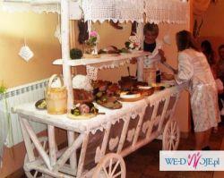 Piękny Ozdobny Wóz na wesele, chrzciny, bankiety itp