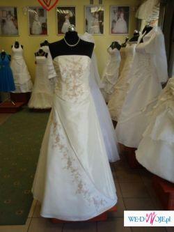 Pięna Suknia Ślubna RĘCZNIE ZDOBIONA_Okazja