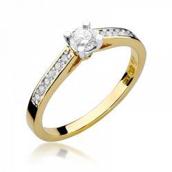 Pierścionek złoty z diamentami BD-W52