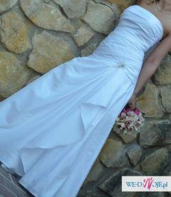 PILNE!! Sprzedam komplet ślubny: suknia+bolerko+welon