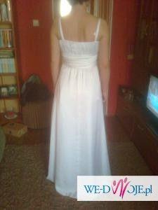 PILNIE sprzedam delikatną suknię ślubną z szyfonu.36/38. 390 zł!!!
