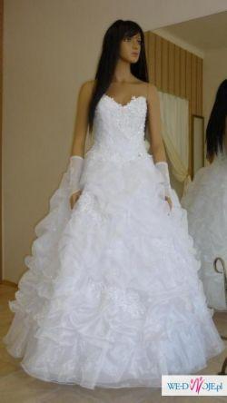 PILNIE Suknia ślubna, jedniczęściowa, KSIĘŻNICZKA 36- 38