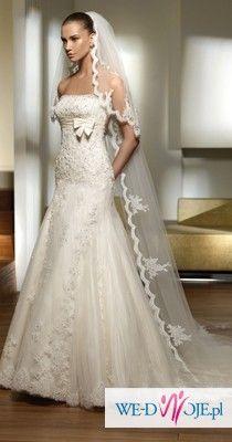 PRISMA SAN PATRICK koronkowa suknia ślubna
