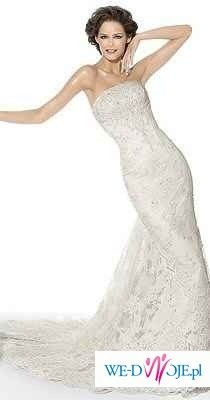 Pronovias INDIA + bolerko +welon pronovias + buty GATUZO