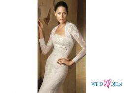 Pronovias Lorna-przepiękna koronkowa suknia ślubna + welon