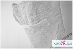 pronovias lorna, white one 427 koronkowa suknia