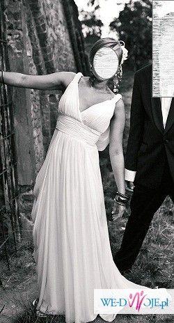 PRONOVIAS MALI przepiękna i zwiewna suknia w stylu empire