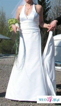 prosta elegancka suknia slubna