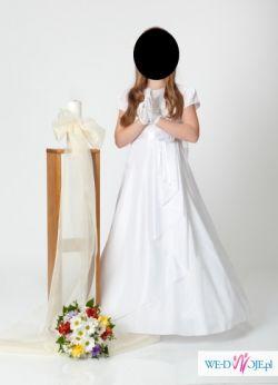 Prosta i elegancka sukienka komunijna 140-146
