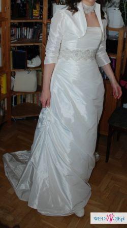 Prosta i elegancka suknia CLAIRE ivory/ecru 38/40