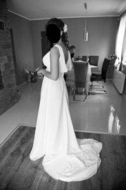 Prosta Sukienka ślubna Z Trenem Rozmiar Salonowy 38 Suknie ślubne