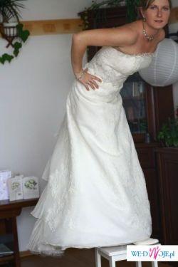 Przecudna suknia CLASSA C-518, kolekcja 2008