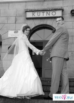przeiękna efektowna suknia ślubna!