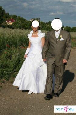 Przepiękna biała suknia rozmiar 38-40  TANIO!