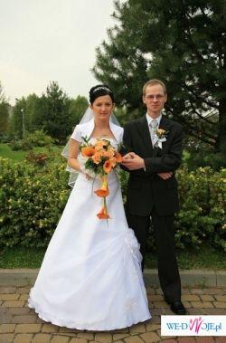 Przepiękna, biała, suknia ślubna 36/38