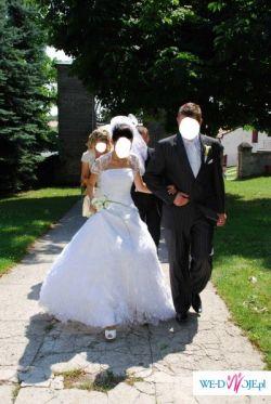 Przepiękna , biała suknia ślubna classa z kolekcji 2009