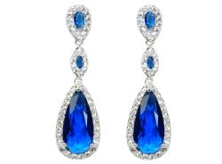Przepiękna biżuteria ślubna kolczyki i bransoletka
