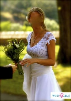 Przepiękna Delikatna Suknia Ślubna