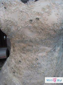 Przepiękna efektowna suknia ślubna 38 + gratisy / Wrocław