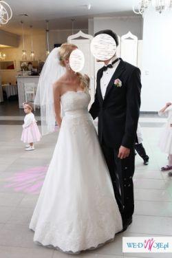 Przepiękna, elegancka suknia ślubna!
