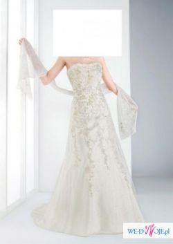 Przepiękna francuska suknia ślubna z kolekcji Bella Sublissima 2010 - tanio!
