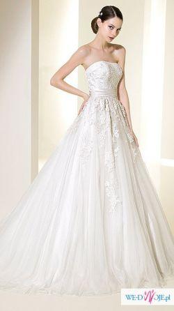 Przepiękna Hiszpańska Suknia ślubna Atelier Diagonal 5031 Suknie