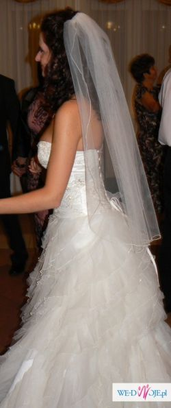 Przepiękna i oryginalna suknia ślubna + dodatki!