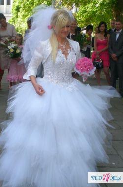 Przepiękna i zjawiskowa suknia ślubna!Unikat!