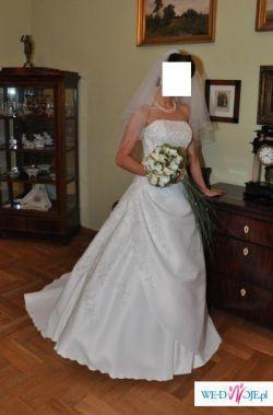 Przepiękna jednoczęsciowa suknia slubna