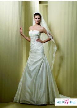 Przepiękna, jedwabna suknia ślubna z kolekcji LA SPOSA 2009, FARO/Warszawa
