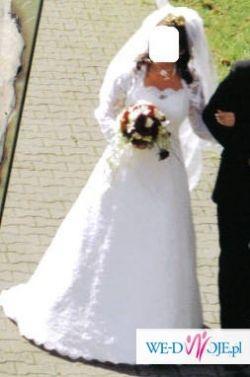 Przepiekna koronkowa suknia