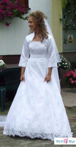 Przepiękna, koronkowa suknia ślubna