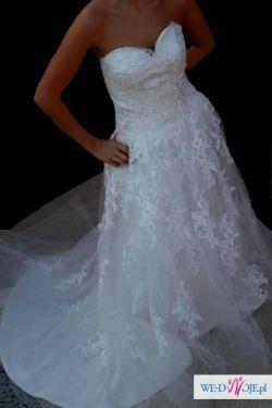 Przepiękna koronkowa suknia ślubna NOWA!