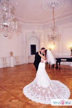 Przepiękna, koronkowa suknia ślubna White One