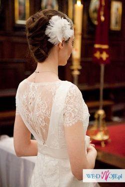 Przepiękna koronkowa suknia z warszawskiego salonu