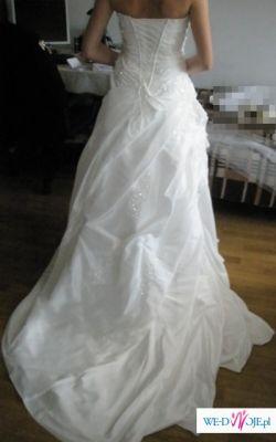 Przepiękna Orginalna Suknia Ślubna - EMMA DV/SILVER 2009  - Diamentowa Biel
