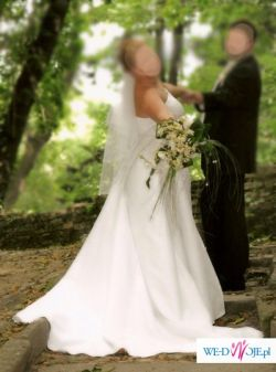 przepiękna skromna suknia ślubna
