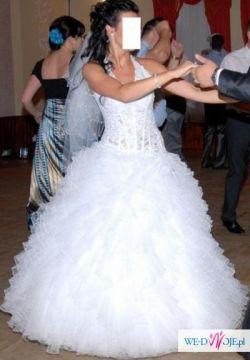 Przepiękna śnieżnobiała suknia Emmi Mariage
